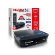 LUMAX Цифровой телевизионный приемник,Dolby Digital,Wi-Fi,IPTV-плейлисты,YouTube,Кинозал (DV1115HD)