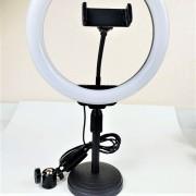 Круговая лампа для селфи ZD-666, 26 см, с подставкой
