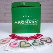 "Автомобильный ароматизатор ""Aromaks"" Double Heart Avocado Pink"