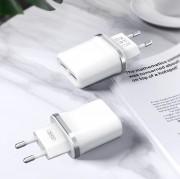 СЗУ XO L52 2 USB разъема (2.1A) блочок + кабель iPhone, белый