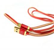 Breaking Кабель Type-C Denim (джинсовый), 2.4A, 1 метр (21232), красный