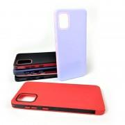 Чехол-накладка для Samsung A01 RACY силиконовый, красный/черный