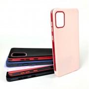 Чехол-накладка для Samsung A01 RACY силиконовый, розовый/красный