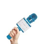 Микрофон-колонка V7 Bluetooth + FM + SD micro + USB + AUX, синий