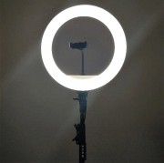 Круговая лампа для селфи, YQ-360, 36 см + штатив (7 режима света, регулировка яркости)
