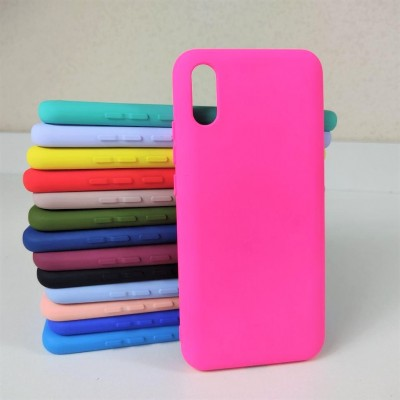 Чехол-накладка для Xiaomi Redmi 9, Nano, силиконовый, неоново-розовый