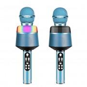 Микрофон-колонка Q008 Bluetooth + FM + SD micro + USB + AUX, синий