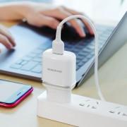 СЗУ USB Borofone BA36A High speed single port QC3.0,18W, белый