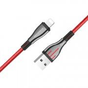 Borofone BU23 Highway кабель для iPhone 5/6, длина 1 м, черный/красный