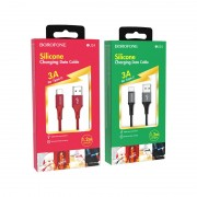 Borofone BU24 Cool Silicone кабель для iPhone 5/6, красный