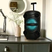 Блютуз-колонка BT Speaker ZQS-8113, FM, SD+Micro SD, USB, AUX,15W c микрофоном и пультом , черный