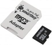 Micro SD 64GB  SmartBuy (Class 10) PRO U3 R/W:90/70 MB/s с адаптером (SB64GBSDCL10U3-01)