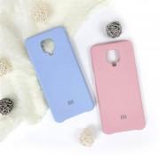 "Чехол-накладка для Xiaomi Redmi Note 9S/9 Pro серия ""Оригинал"", Soft Touch, голубой"