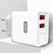 СЗУ XO L31 2 USB разъема (2.4А), блочок+ кабель Micro, белый