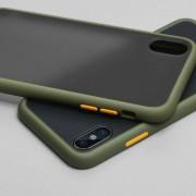 Чехол-накладка для Samsung A01, Skin Shell (противоударный), хаки
