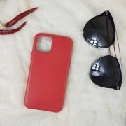 Чехол-накладка для iPhone 11 Leather Case, кожаный, красный