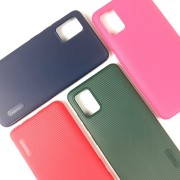 Чехол-накладка для Samsung A01 Cherry Stripe, красный