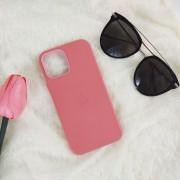 Чехол-накладка для iPhone X/XS Leather Case, кожаный, розовый пион