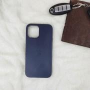 Чехол-накладка для iPhone 11 Pro Leather Case, кожаный, темно-синий