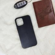Чехол-накладка для iPhone 11 Pro Leather Case, кожаный, черный