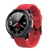 Смарт часы L15, водозащита IP68, пульсометр,фонарик, шагомер, красный