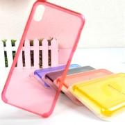 Чехол-накладкa для iPhone X/XS, Clear Case, пластиковый, прозрачный, розовый