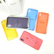 Чехол-накладкa для iPhone X/XS, Clear Case, пластиковый, прозрачный, черный