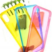 Чехол-накладкa для iPhone X/XS, Clear Case, пластиковый, прозрачный, желтый