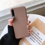 """Чехол-накладка для Samsung A01 серия """"Оригинал"""", Soft Touch, лавандовый"""