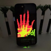 Чехол-накладкa для iPhone 11 Pro светящийся LED Luminous Tempered Glass Night Light, рисунок 2