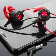 Гарнитура с микрофоном XO MKF04, разъем 3.5 мм, черно-красная