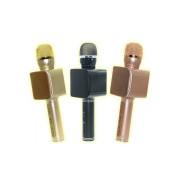 Микрофон-колонка YS-68 Bluetooth + FM + SD micro + USB + AUX, золотой