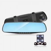 """Bидеорегистратор-зеркало XH208, дисплей 4.0"""", камера заднего вида, HD, 1080P, ночной режим"""