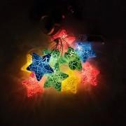 "Perfeo гирлянда светодиодная ""Звёздочка 2"" 10LED, пластик, 2м, 2хАА (PF_A4917)"
