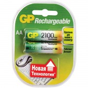 GP AA2100mAh/2BL аккумулятор Пластик (комплект 2 штуки)