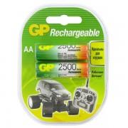 GP AA2500mAh/2BL аккумулятор Пластик (комплект 2 штуки)