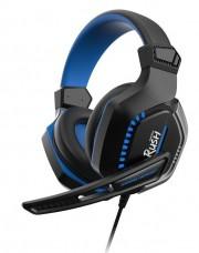 Игровая гарнитура RUSH CRUSH'EM, LED-подсветка, динамики 50мм, микрофон, (SBHG-9660), черный/синий