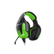 Игровая гарнитура RUSH BATTLE STATION, динамики 50мм, гибкий микрофон, LED, черн/зеленый