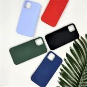 Чехол-накладка для Apple iPhone 12 Mini, силиконовый Breaking Soft Touch с микрофиброй, красный