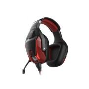 Игровая гарнитура RUSH BATTLE STATION, динамики 50мм, гибкий микрофон, LED, черн/красный