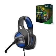 Игровая гарнитура RUSH PUNCH'EM, динамики 50мм, поворотный микрофон, LED, черн/синий