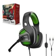 Игровая гарнитура RUSH SMASH'EM, динамики 50мм, поворотный микрофон, черн/зеленый