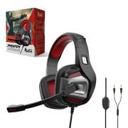 Игровая гарнитура RUSH SMASH'EM, динамики 50мм, поворотный микрофон, черн/красный
