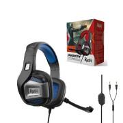 Игровая гарнитура RUSH SMASH'EM, динамики 50мм, поворотный микрофон, черн/синяя