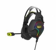 Игровая гарнитура Smartbuy RUSH AMBITION, RGB, металлич.оголовье, 50мм динамики,черн/желтый