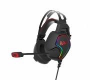 Игровая гарнитура Smartbuy RUSH AMBITION, RGB, металлич.оголовье, 50мм динамики,черн/красный