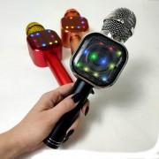 Микрофон-колонка Q009 Bluetooth + FM + SD micro + USB + AUX, черный
