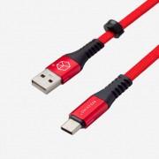Breaking Кабель для iphone 5/6 Nylon  (нейлон) USB - Lightning 1m (21412), красный