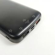 """Внешний аккумулятор """"Breaking"""" P201, 2USB, 10000 mAh, 3А, QC 3.0, PD 2.0, LCD, 18W, черный"""