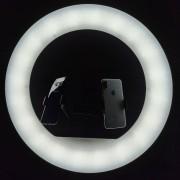 Круговая лампа для селфи RL-21, 53 см, + пульт, с сумкой (без штатива)